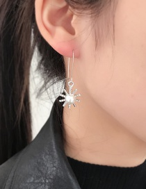 Fashion Silver Color Sun Shape Decorated Earrings