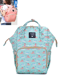 Fashion Blue Dog Pattern Decorated Backpack