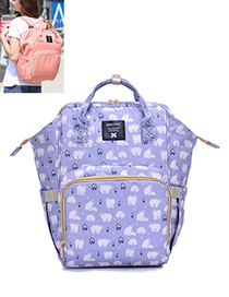 Fashion Multi-color Bear Pattern Decorated Backpack