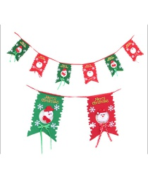 Fashion Red+green Snowman Pattern Decorated Christmas Ornaments(6pcs)