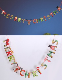 Fashion Multi-color Cartoon Letters Decorated Christmas Ornaments