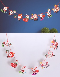 Fashion Red+green Santa Claus Decorated Christmas Ornaments