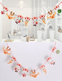 Fashion Red+white (glitter) Parachute Decorated Christmas Ornaments