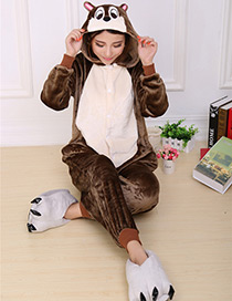 Fashion Brown Mouse Shape Decorated Pajamas