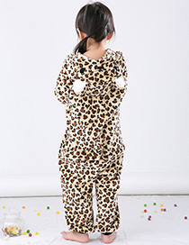 Fashion Brown Leopard Pattern Decorated Child Pajams