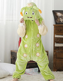 Fashion Light Green Caterpillar Shape Decorated Nightgown