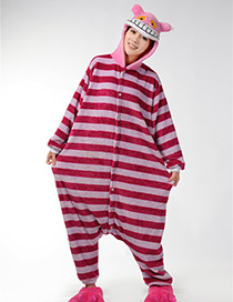 Fashion Plum Red Cat Shape Decorated Nightgown