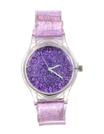 Fashion Purple Sequins Decorated Watch