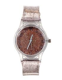 Fashion Khaki Sequins Decorated Watch