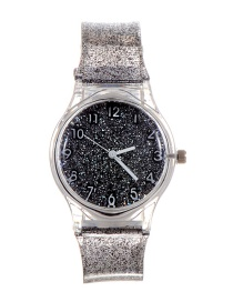 Fashion Black Sequins Decorated Watch