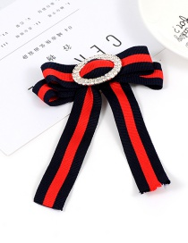 Fashion Red+black Bowknot Shape Decorated Brooch