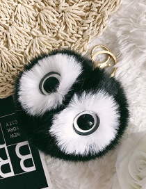 Fashion Black Eyes&fuzzy Ball Decorated Ornaments