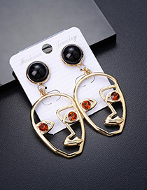 Personality Red Mask Shape Decorated Earrings