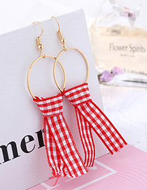 Fashion Red Color-matching Decorated Earrings