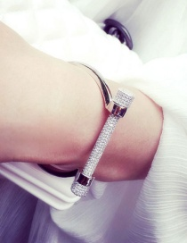 Fashion Silver Color Dumbbell Shape Decorated Bracelet