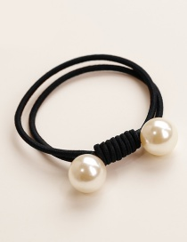 Elegant Black Double Round Decorated Hair Band