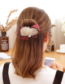 Elegant Claret-red Bowknot Shape Decorated Hair Band