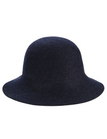 Trendy Navy Washbasin Shape Design Pure Color Hat