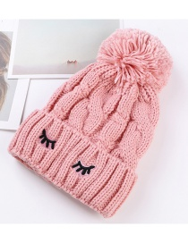 Trendy Pink Embroidery Eyelashes Decorated Thicken Cap