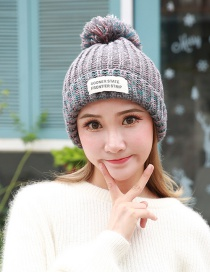 Fashion Gray The Letter Patch Decorated Hat