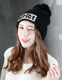 Fashion Black Letter Shape Decorated Cap