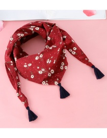 Fashion Red Tassel Decorated Scarf