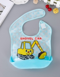 Fashion Yellow Excavator Pattern Decorated Bib