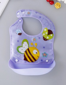 Fashion Purple Bee Pattern Decorated Bib
