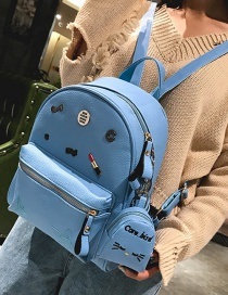 Fashion Blue Butterfly&lipstick Decorated Backpack(2pcs)