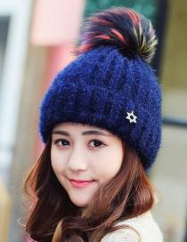 Fashion Navy Star Decorated Hat