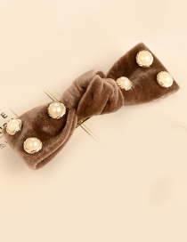 Fashion Light Coffee Bowknot Shape Decorated Hair Clip