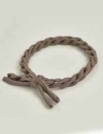 Fashion Light Brown Pure Color Decorated Hair Band