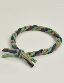 Fashion Green+navy Color Matching Decorated Hair Band