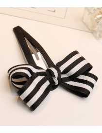Fashion White+black Bowknot Shape Decorated Hairpin