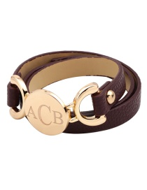 Fashion Coffee Pure Color Decorated Bracelet