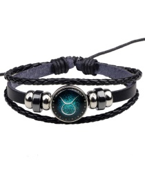Fashion Black Taurus Pattern Decorated Bracelet