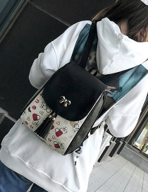 Fashion Black Bowknot Decorated Backpack