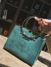 Fashion Gren Circular Ring Decorated Shoulder Bag (2 Pcs)