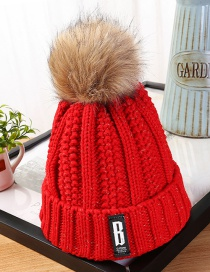 Fashion Red Letter Patch Decorated Hat