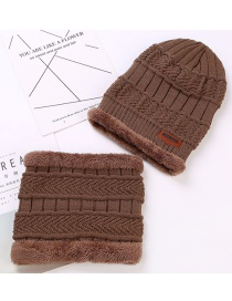 Fashion Khaki Letter Patch Decorated Hat ( 2 Pcs)