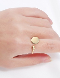 Trendy Gold Color Round Shape Decorated Pure Color Ring