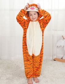 Lovely Orange Tiger Decorated Children Pajamas