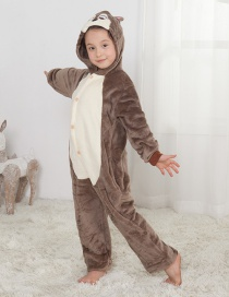Lovely Coffee Squirrel Decorated Children Pajamas