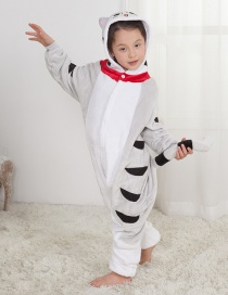 Lovely Gray Cat Decorated Children Pajamas