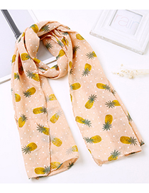 Lovely Orange Pineapple Pattern Decorated Child Scarf(1-12 Years Old)