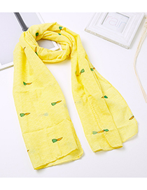 Lovely Yellow Carrot Pattern Decorated Child Scarf(1-12 Years Old)