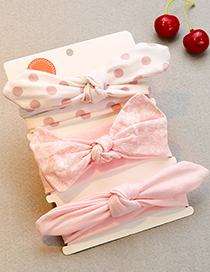 Lovely Pink Bowknot Shape Decorated Baby Hair Band(3pcs 0-1year Old)