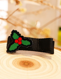Fashion Green Leaf Shape Decorated Christmas Hairpin