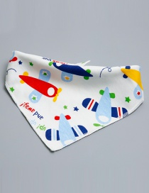 Lovely Multi-color Aircraft Shape Decorated Bib