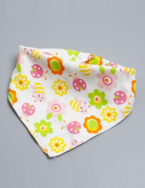 Lovely Multi-color Bee Shape Decorated Bib